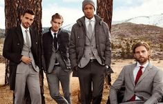 Tommy Hilfiger Highlights Gray Suiting for Fall/Winter 2014 Sartorial Campaign image hilfiger formal