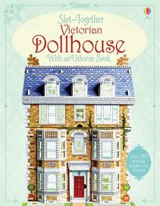 Create your very own detailed model dollhouse, complete with furniture, home accessories and a family of dolls. Simply press out the sturdy, foamboard pieces, slot together and you're ready to play. Comes with a book about dollhouses that contains ideas for games you can play with the house and the dolls.