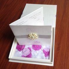 Luxury Boxed Wedding Invitations With Rose Petal 05c0aa95539f