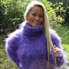 Gros Pull Mohair, Mohair Sweater, Cardigans, Sweaters, Jumpers, Warm And Cozy, Pj, Women's Fashion, Sexy