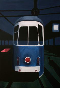 Black tram   Black serie 1 of 3 - Mateo Zareba - 1970