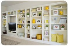 Built-Ins From Billy Bookcases -- Best Ikea Furniture Hacks