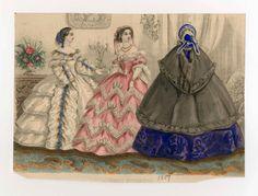 In the Swan's Shadow: Allgemeine Moden-Zeitung, 1859. Civil War Era Fashion Plate