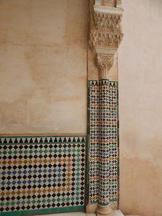 Colorful tile work in #Granada