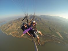 """Paragliding Cape Town 10 American students desperately looking for a paragliding adventure and their last day in Cape Town? You take them """"winching"""" at Brandvlei dam in Worcester! Paragliding, Worcester, Tandem, Cape Town, Students, Adventure, American, Tandem Bikes, Adventure Nursery"""