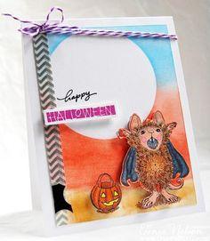 Happy Halloween Vampire Mouse Card