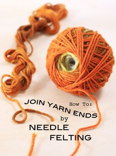 How to join yarn scraps to make a ombre ball of wool