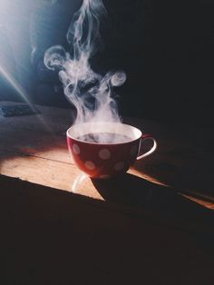 warm tea in the morning
