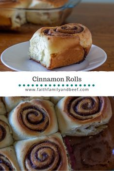 Cinnamon Rolls - a delicious stand-alone breakfast or sweet side to savory ground beef chili soup.
