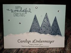 Carolyn's Card Creations: Festival of Trees