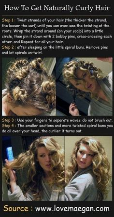 A great way to set my already curly hair so I don't wake up with crazy curls.