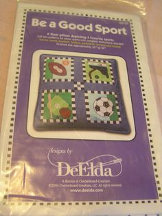 Floor Pillow Kit DeElda Four Sport QUI30 Full Size Patterns Seven Sports…