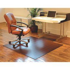 18bd4b96d99 Dark Cherry 55 x 57 Bamboo Roll-Up Office Chair Mat