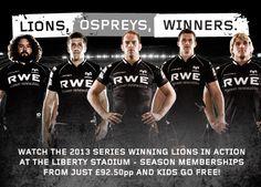 Lions, Ospreys, Winners. #Ospreys #Rugby