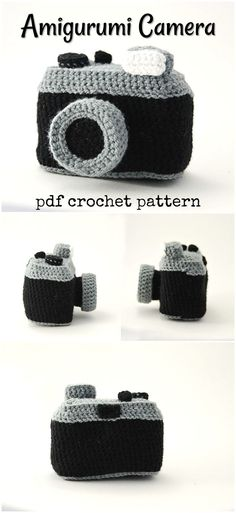 What a fun toy camera crochet pattern to make for a child. Love this unique amigurumi camera pattern! #etsy #ad #VliegendeHollander