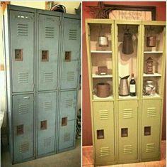 Lockers repurposed. Cute idea