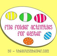 File Folder Activities for Easter by theautismhelper.com