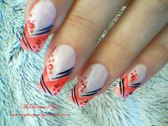 Abstract, gradient red tip, nail art design, #nailart #nails #mydesigns4you #fashion #beauty #style #stylehaul #polish #tutorial #howto #naildesign  for tutorial visit my channel www.youtube.com/user/MyDesigns4You