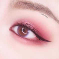 Day Eye Makeup, Bronze Eye Makeup, Korean Eye Makeup, Pink Eye Makeup, Asian Makeup, Cute Makeup, Girls Makeup, Eyeshadow Makeup, Makeup Art