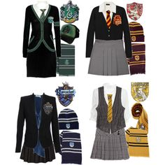 """Hogwarts Uniforms"" by ser-rena01 on Polyvore"