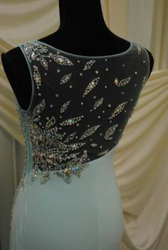 794d94b3c1 Prom Dress Kiss Kiss Formal Pageant Sparkle Long Straps Slit MINT Aqua  Sheath
