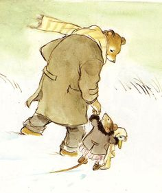 "nightisgiven: ""smatterings: "" la-peau-douce: "" Ernest & Celestine "" oh I just loved this book as a kid, and I had forgotten about it until now. it always reminded me of my dad and myself. I must find this book! Ernest et Célestine! They lost. Art And Illustration, Ernest And Celestine, Cute Bear, Pulp Fiction, Children's Picture Books, Children's Literature, Art Plastique, Painting & Drawing, Book Art"