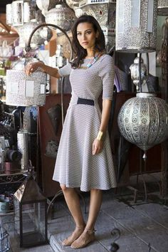 Fit and Flare Mila Dress from the Marrakech Collection by Shabby Apple