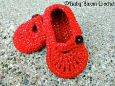 Little Ruby Slippers, Dorothy, Wizard Of Oz Inspired, Crocheted Baby Shoes. $8.00, via Etsy.