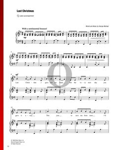 Last Christmas by Wham! Christmas Piano Sheet Music, Last Christmas, Piano Music, Special Occasion, Songs, Traditional, Holiday, Vacations, Holidays