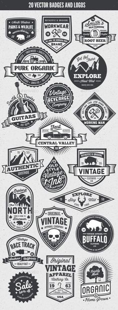 Vintage Style Badges and Logos | Buy and Download: http://graphicriver.net/item/-vintage-style-badges-and-logos-vol-5/8925417?WT.ac=category_thumb&WT.z_author=GraphicMonkee&ref=ksioks: