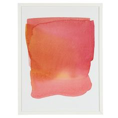 Soft Blend Rose print by Land of Nod. Like a sunset swallowed a mango smoothie...