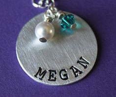 Handstamped Personalized Mothers Necklace by StampedFromMyHeart, $22.50 Making Ideas, Hand Stamped, Jewerly, Mothers, Drop Earrings, Trending Outfits, Unique Jewelry, Handmade Gifts, Etsy