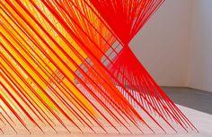Las coloridas instalaciones de Megan Geckler