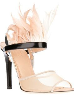 665db4c86f34 Reed Krakoff Feather Trim Sandal. Reminds me of a 1920s flapper shoe. Reed  Krakoff
