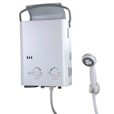 Ecotemp L5 Water Heater......NEED but must figure out how to hook up for entire tiny house water use. Portable Toilet, Tiny Spaces, Back To Nature, Shower Heads, Garden Hose, Just In Case, Glamping, Survival, Outdoor Living