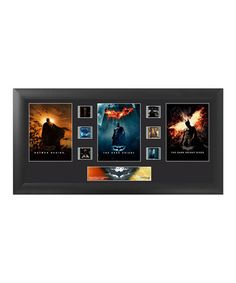 Loving this The Dark Knight Trilogy Trio FilmCells™ Framed Wall Art on #zulily! #zulilyfinds