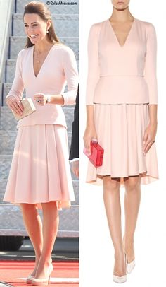 Kate is the McQueen 'wool cashmere peplum dress' in Adelaide April 23, 2014