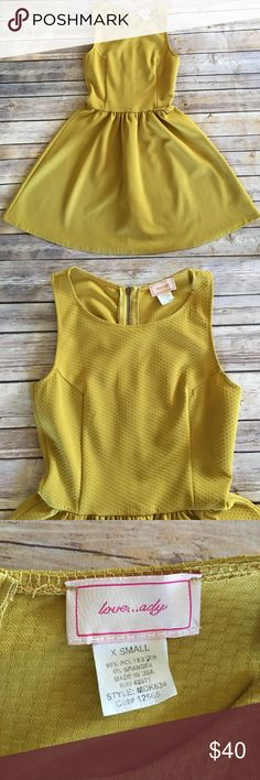 Nordstrom Love Ady Fit & Flare Dress Beautiful & flawless golden yellow fit and flare dress.  Soft and slightly stretchy material. Zipper closure on back. Armpit to armpit 14 1/2 in & shoulder strap to hem is 32 in. Nordstrom Dresses