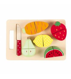 Let'S Play Fruit And Veg Chopping Board Set available to buy direct from Sass & Belle, for the little things in life. Crafts To Sell, Crafts For Kids, Diy Crafts, Toddler Toys, Baby Toys, Wood Playhouse, Wood Toys Plans, Chopping Board Set, Montessori Materials