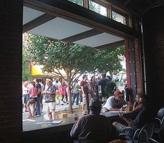 LAAFF from inside Lab Brewing, downtown Asheville
