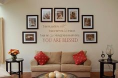 Lovely Family Photo Display Idea! Beautiful!!