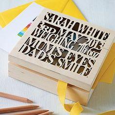 Personalised Wooden Baby Keepsake Box - children's room accessories