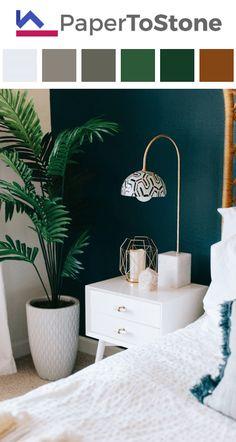 Bedroom color palette - black cerulean dark-amaranth dark-vermilion white