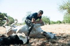 One such person is Santi Serra, who has taken his natural raw passion and deep connection with his horses and other animals to another Ibiza Fashion, Camps, Garden Sculpture, Horses, Style, Animales, Swag, Horse, Outfits
