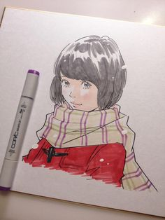 色紙をサラサラッ by Eisaku