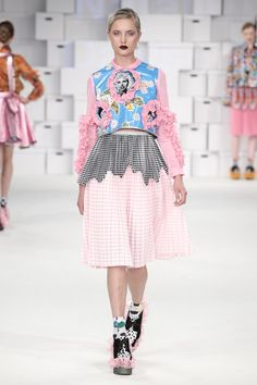 Pastel pink & sky blue (& medium grey Manchester School of Art Spring/Summer 2015 Ready-To-Wear