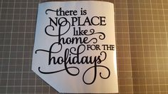 Home for the Holidays Vinyl Decal. This is made of high quality premium vinyl.  Choose your color - Black, White, Red, Green, Blue, Light Blue or Yellow Choose your size - Approximate 6x6 or 4.25x4.25  You will receive 1 decal.  If you are interested in multiples of these, please send us a message and let us know how many you require. We will need at least a couple of days lead time to complete your order. We will also combine ship to you.  Follow us on Facebook www.facebook.com/fireside...