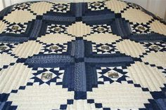 Stars in Log Cabin Amish Quilt Ready to Ship In Stock