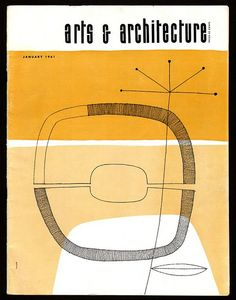 Arts & Architecture, January 1961, cover design by John Follis. via Sandi Vincent