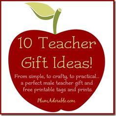 10 teacher gift ideas!